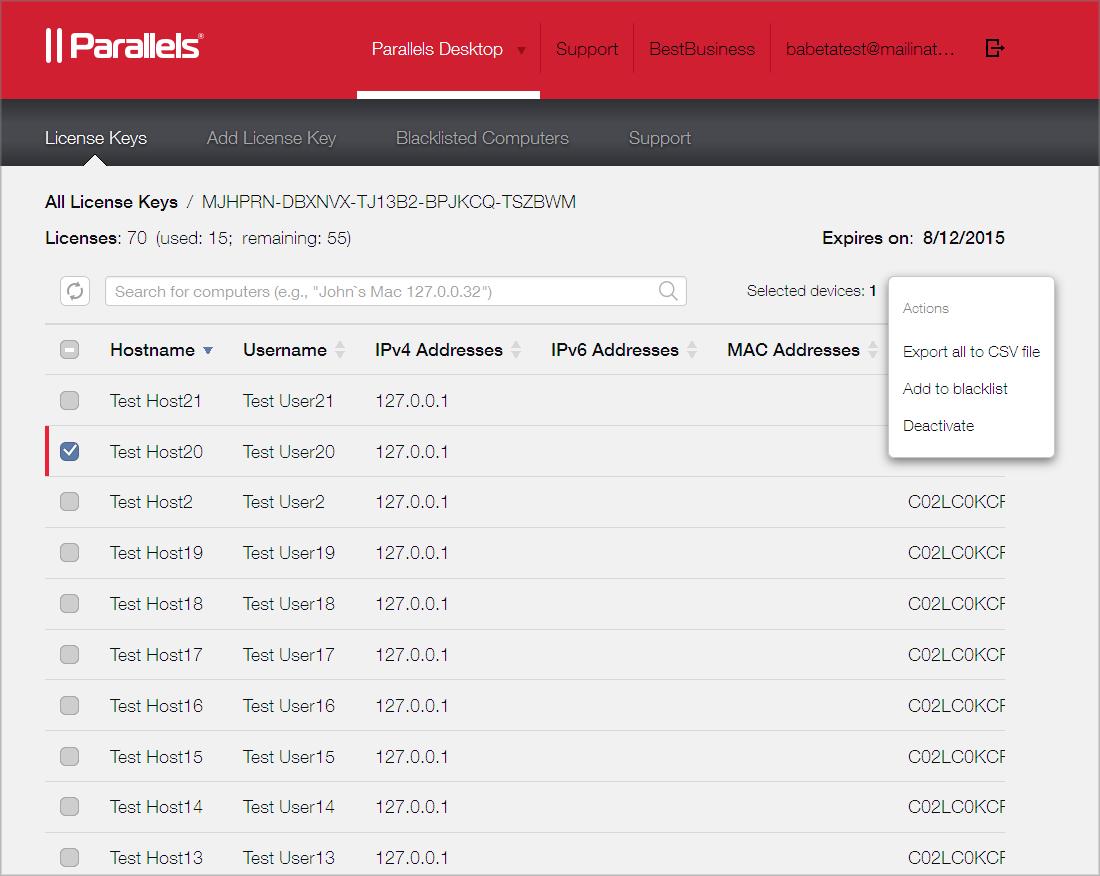 Parallels desktop 10 for mac activation key list | Parallels