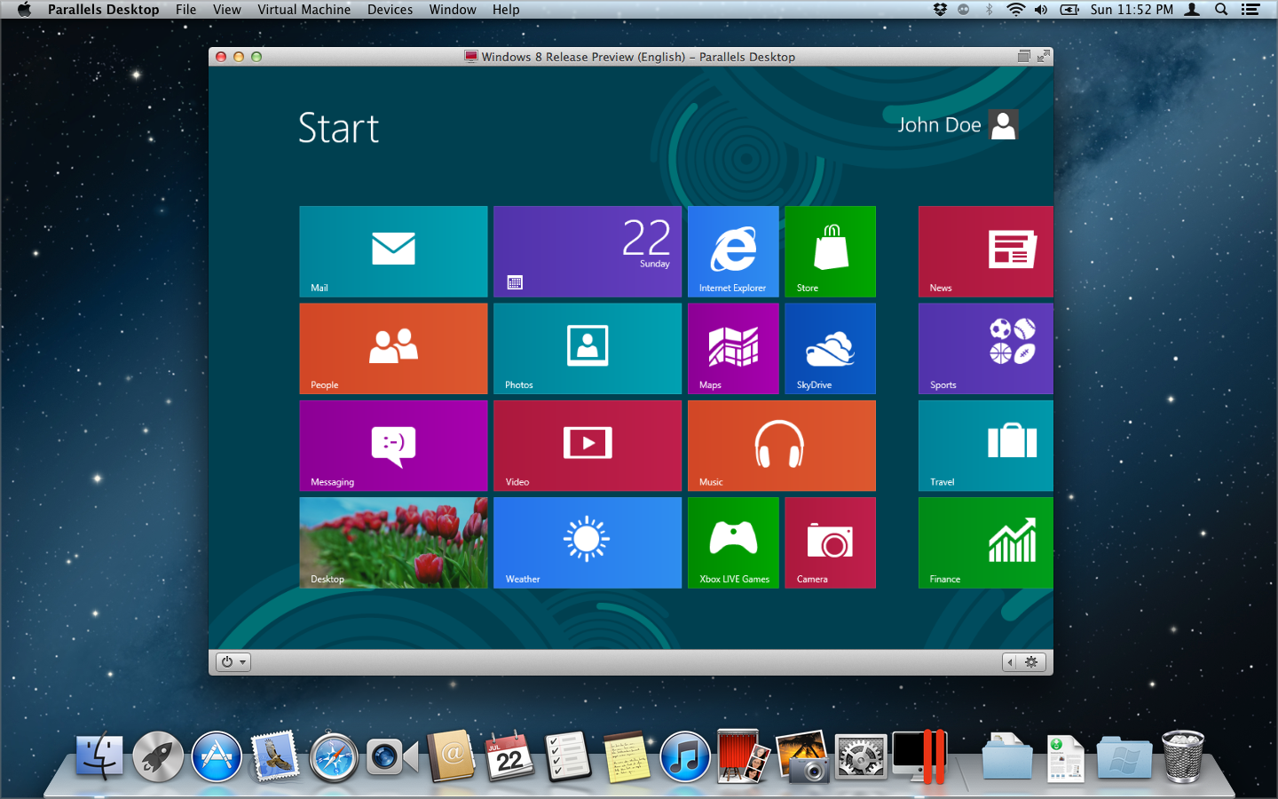 about using windows 8 with parallels desktop