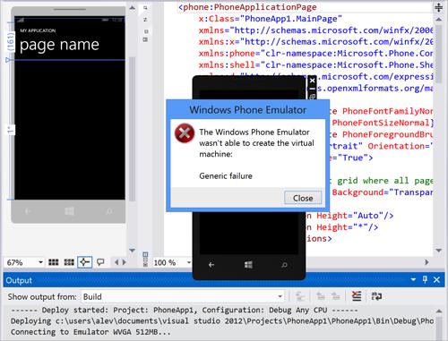 Run Windows Phone Emulator